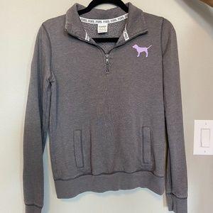 PINK Grey Quarter-Zip Jacket